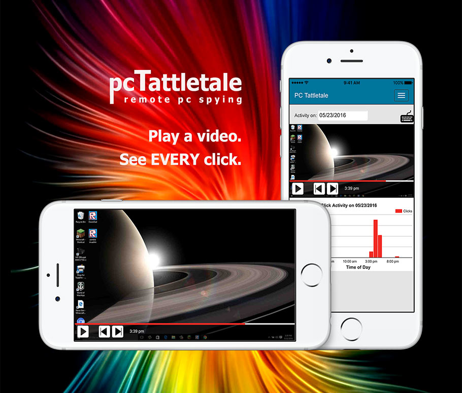 PC Tattletale mobile interface